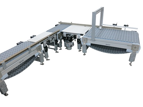 3200 Series Conveyor with Series 30° Chain and Activated Rollers