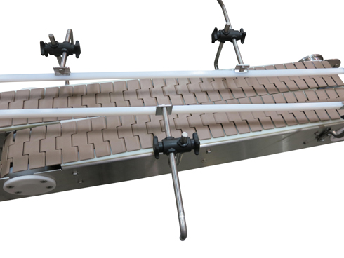 roller transfer on chain conveyor belt