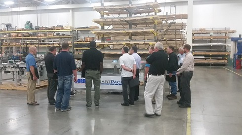 Paranet personnel view Dorner new technology at Paranet Factory Crawl